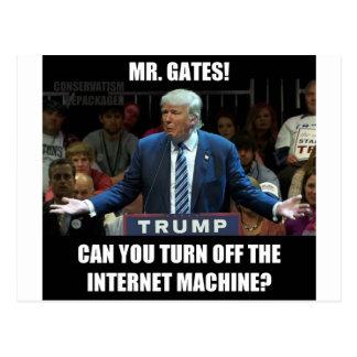 Apague la máquina de Internet Postales