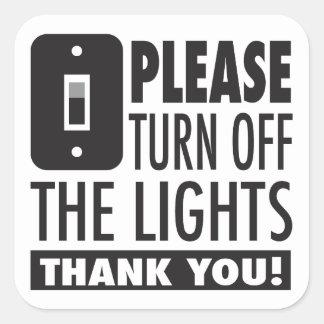 Apague por favor al pegatina de las luces