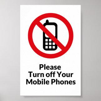 Apague por favor el poster de los teléfonos celula