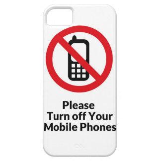 Apague por favor su caso del iPhone de los Funda Para iPhone SE/5/5s