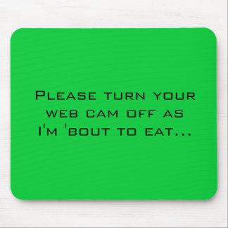 Apague por favor su leva de la tela pues soy 'comb mouse pad