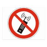 Apague su teléfono celular postales