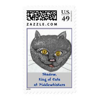 APaindedCat ShadowKingOfCats Postage Stamps