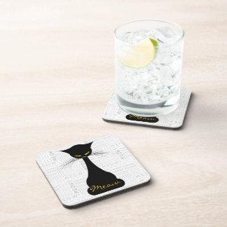APAL: Black Cat Meow Beverage Coaster