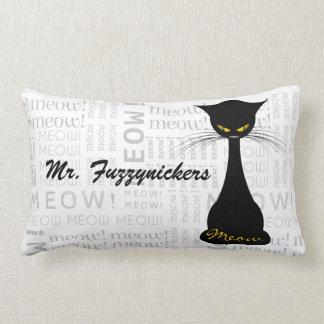 APAL: Black Cat Meow Custom Lumbar Pillow