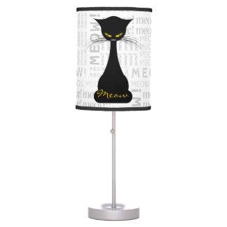 APAL: Black Cat Meow Custom Table Lamp