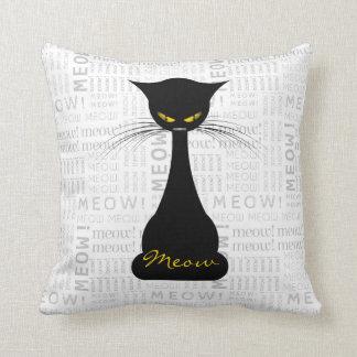 APAL: Black Cat Meow Custom Throw Pillow