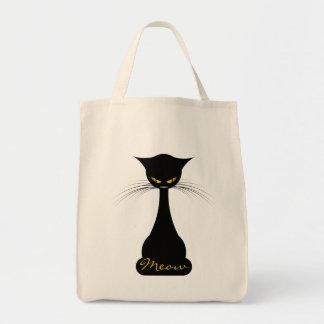 APAL: Black Cat Meow Tote Bag