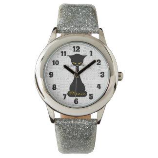 APAL: Black Cat Meow Wristwatch