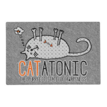 APAL - CATatonic Funny Cat Pet Dinner Mat