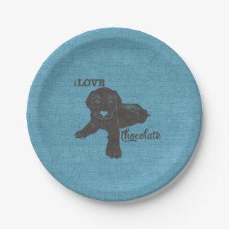 APAL - Chocolate Labrador | Dog Lovers Paper Plate