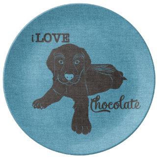 APAL - Chocolate Labrador | Dog Lovers Plate