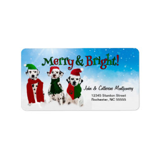 APAL - Christmas Dalmatian Dogs in the Snow Address Label