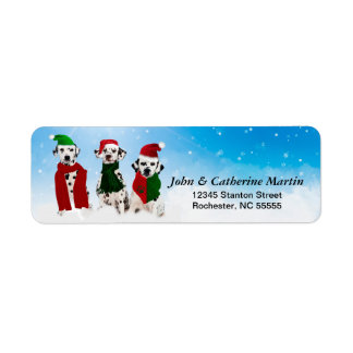 APAL - Christmas Dalmatian Dogs in the Snow Label