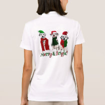 APAL - Christmas Dalmatian Dogs in the Snow Polo Shirt