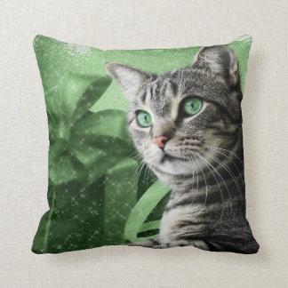 APAL - Christmas Silver Tabby Cat Throw Pillow