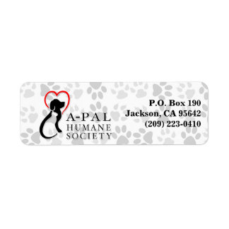 APAL - Logo with Paw Prints | Address Labels