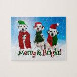 APAL - Perros del Dalmatian del navidad Rompecabezas Con Fotos