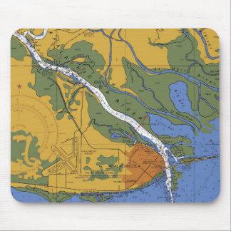 Apalachicola Florida Nautical Chart Mouse Pad