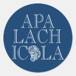 Apalachicola Florida Oyster Design Classic Round Sticker