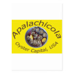 Apalachicola Oyster Capital yellow Post Card