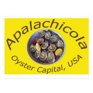 Apalachicola Oyster Capital yellow Postcard