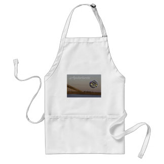 Apalachicola with John Gorrie Bridge and oysters Adult Apron