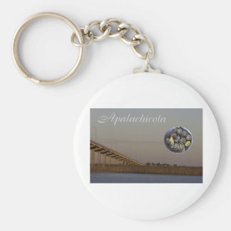 Apalachicola with John Gorrie Bridge and oysters Keychain