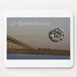 Apalachicola with John Gorrie Bridge and oysters Mouse Pad