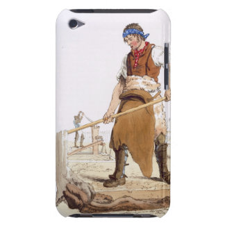 "Aparador de cuero, del ""traje de Gran Bretaña"" p Case-Mate iPod Touch Carcasa"