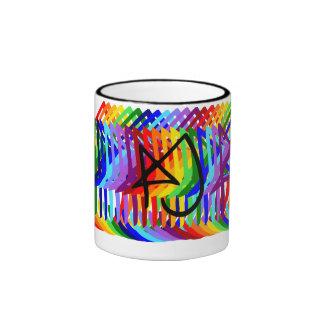 Aparato de consumición de Aly Jayne del arco iris Taza De Dos Colores