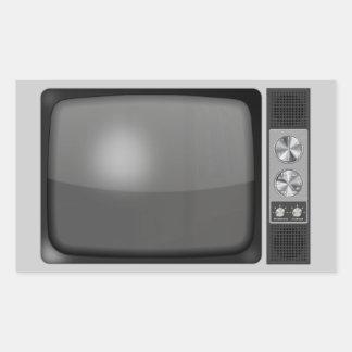 Aparato de TV Retro del vintage Rectangular Altavoz