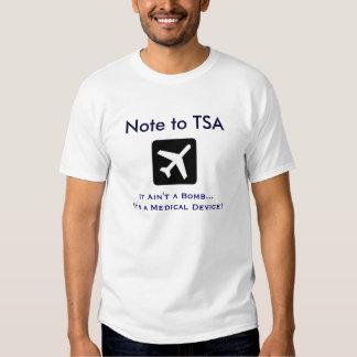 Aparato médico de TSA Camisas