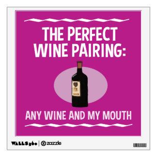 Apareamiento divertido del vino: Cualquie vino y Vinilo Adhesivo