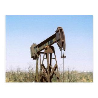 Aparejo de bombeo del aceite tarjetas postales