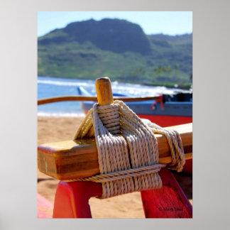 Aparejo de la canoa impresiones