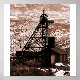 Aparejo de la explotación minera, colina del oro,  impresiones