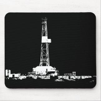 Aparejo de la perforación petrolífera en blanco en mouse pad