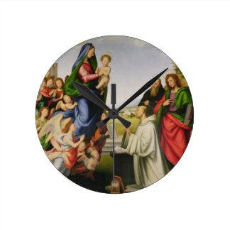 Aparición de la Virgen a St Bernard, 1504-07 ( Reloj Redondo Mediano