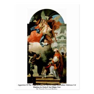 Aparición de la Virgen Tarjeta Postal