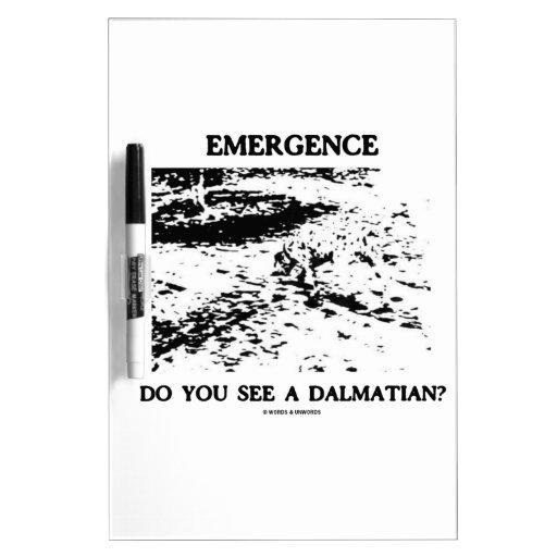 ¿Aparición usted ve a un Dalmatian? Ilusión óptica Pizarras Blancas