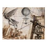 apariciones del steampunk sobre el puente de postal