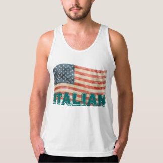 Apariencia vintage americana italiana playera de tirantes