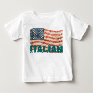 Apariencia vintage americana italiana playera para bebé