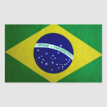 Apariencia vintage brasileña de la bandera etiqueta