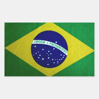Apariencia vintage brasileña de la bandera rectangular altavoces
