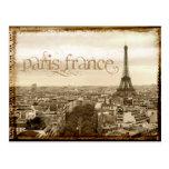 apariencia vintage de París Francia Postal