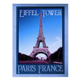 apariencia vintage de París Francia Postales