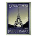apariencia vintage de París Francia Tarjeta Postal