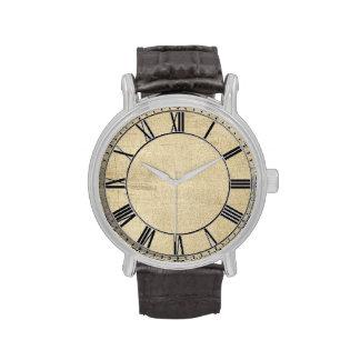 Apariencia vintage envejecida reloj de mano